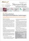 Steuerblatt August 2011