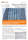 Steuerblatt August 2013